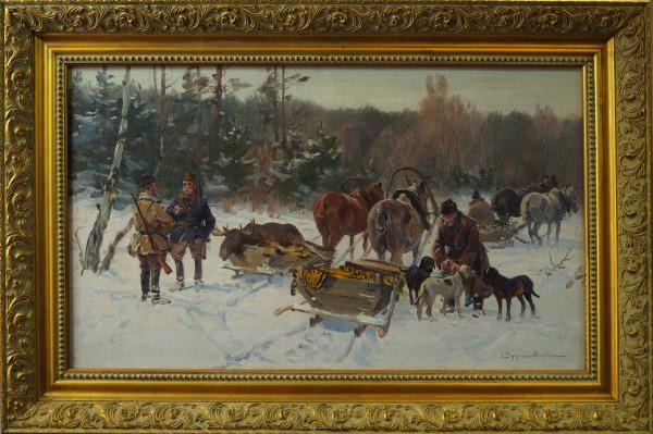 Ignacy Zygmuntowicz Polowanie z psami r