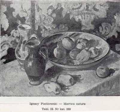 Pieńkowski Ignacy, Martwa natura