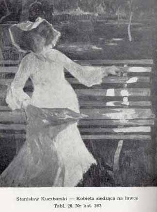 Kuczborski Stanisław, Kobieta siedząca na ławce