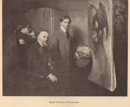Styka Tadeusz, W pracowni, s.14