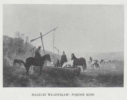 Malecki Władysław Pojenie koni, 100 lat malarstwa