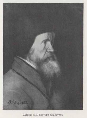 Matejko Jan Portret mężczyzny, 100 lat malarstwa