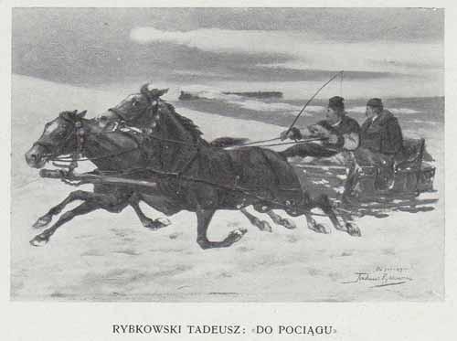 Rybkowski Tadeusz Do pociągu, 100 lat malarstwa
