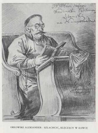 Orłowski Aleksander Szlachcic klęczący, 100 lat malarstwa