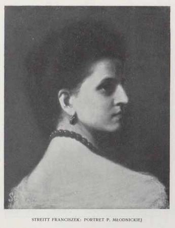 Streitt Franciszek Portret p. Młodnickiej, 100 lat malarstwa