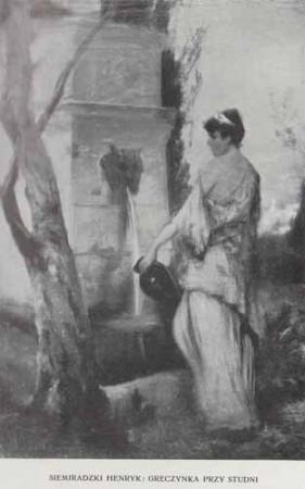 Siemiradzki Henryk Greczynka przy studni, 100 lat malarstwa