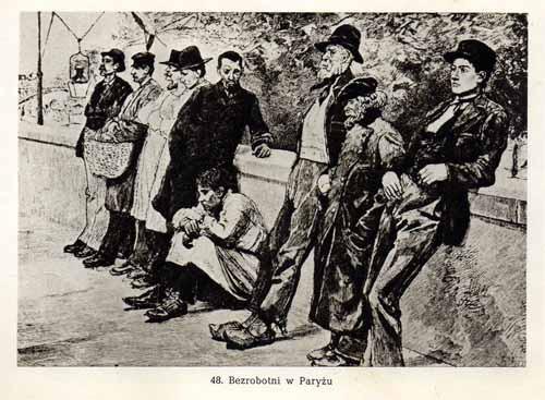 Chełmoński Józef, Bezrobotni w Paryżu
