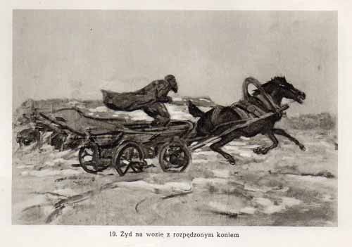 Chełmoński Józef, Żyd na wozie