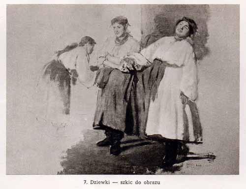 Chełmoński Józef, Dziewki
