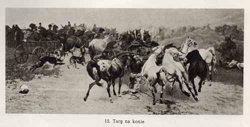 Chełmoński Józef, Targ na konie
