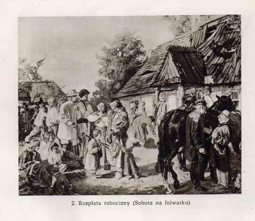 Chełmoński Józef, Rozpłata robocizny