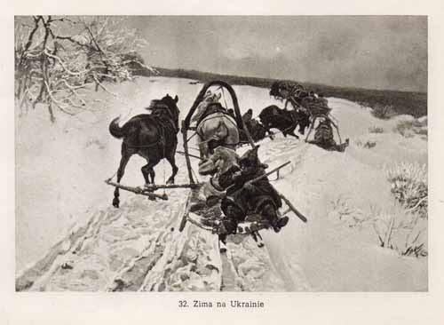 Chełmoński Józef, Zima na Ukrainie
