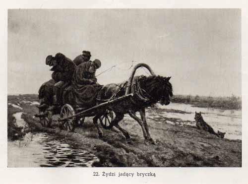 Chełmoński Józef, Żydzi jadący bryczką