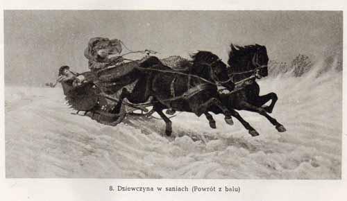 Chełmoński Józef, Dziewczyna w saniach