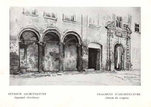 Czachórski Władysław, Studium architektury