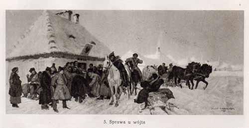 Chełmoński Józef, Sprawa u wójta