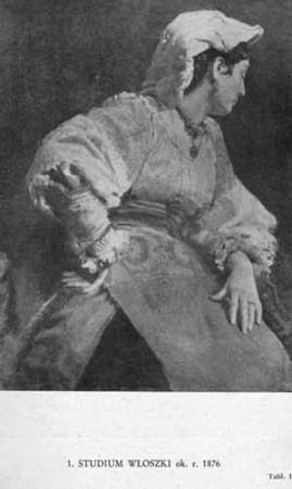 Wyczółkowski Leon, Studium Włoszki