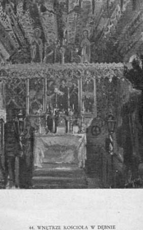 Wyczółkowski Leon, Wnętrze kościoła w Dębnie