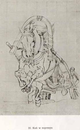 Chełmoński Józef, Koń w zaprzęgu