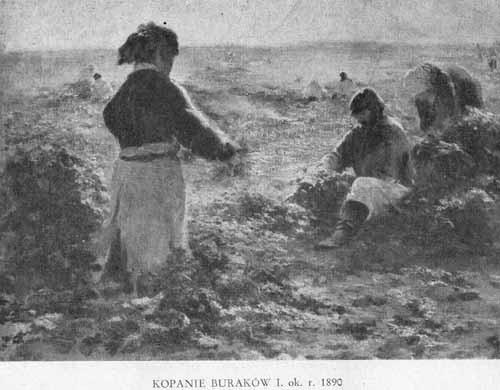 Wyczółkowski Leon, Kopanie buraków