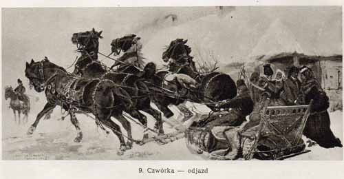 Chełmoński Józef, Czwórka-odjazd