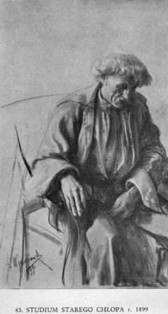 Wyczółkowski Leon, Studium starego chłopa