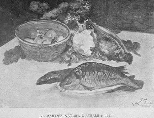 Wyczółkowski Leon, Martwa natura z rybami