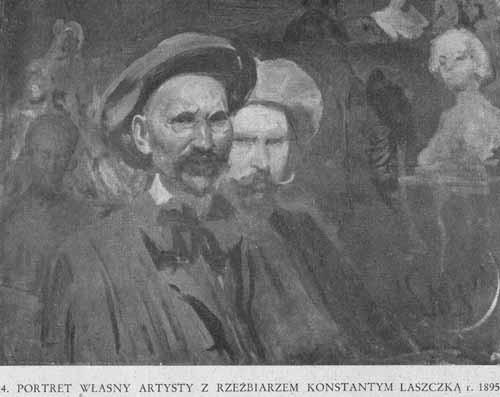 Wyczółkowski Leon, Portret artysty z Laszczką