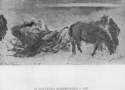 Wyczółkowski Leon, Gertruda Komorowska