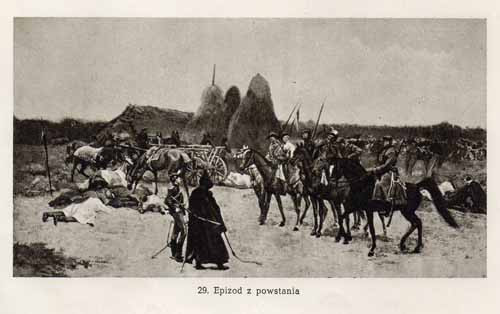Chełmoński Józef, Epizod z powstania