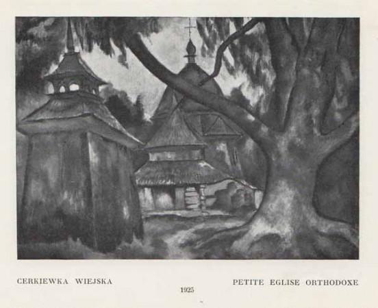 Kazimierz Sichulski Cerkiewka wiejska
