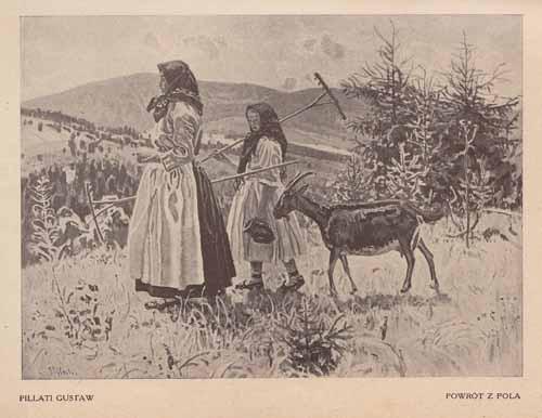 Pillati Gustaw, Powrót z pola