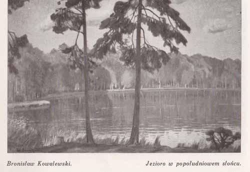 Kowalewski Bronisłąw, Jezioro w popołudniowym słońcu, s.28