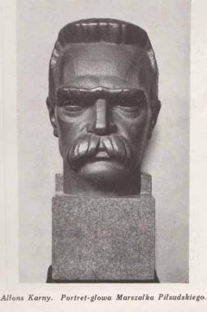 Karny Alfons, Portret-głowa Piłsudskiego, s.28