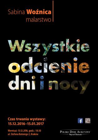 Wszystkie odcienie dni i nocy - plakat wystawy